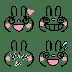 ふんわかウサギ スマイル絵文字