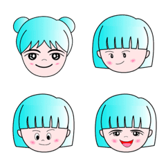 Green head girl