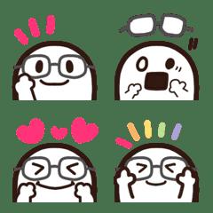 チラッとメガネちゃん♡絵文字
