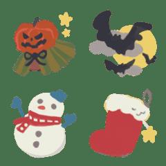 ぷちかわ絵文字【ハロウィン&クリスマス】