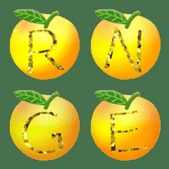 オレンジゴールド (A-Z) 絵文字 かわいい