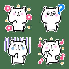 しろいくま絵文字(1)