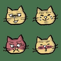 表情豊かなブサ猫絵文字