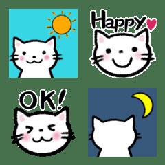 *大人可愛い* 白い猫の絵文字