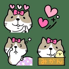 ねこちゃん♡リボン絵文字