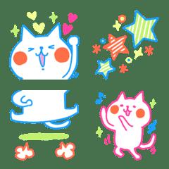 つながる♡カラフル♡ネオンカラーのネコ