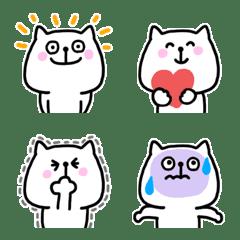 しろいねこ絵文字(1)