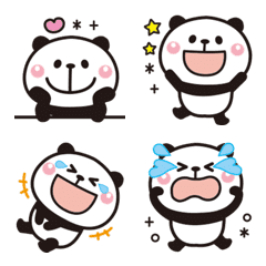 大人かわいい♡パンダの絵文字【全身】2
