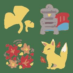 ゆる可愛く使える絵文字【秋の季節】