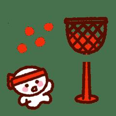くっきり★シンプルちゃんの運動会絵文字