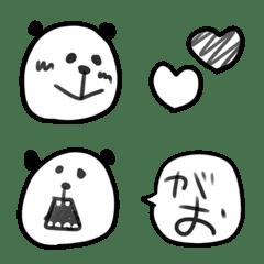 パンダの落書き風セットで使いやすい絵文字