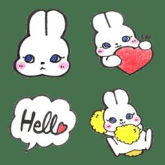 毎日使お♡ レトロガーリーなウサギ絵文字