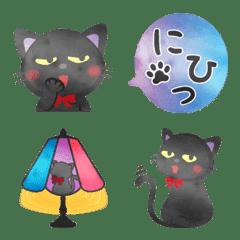 水彩えほん【黒猫ボシュの毎日編】絵文字