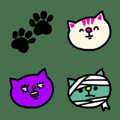 猫の絵文字。