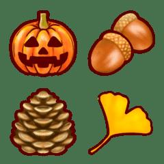 秋の絵文字☆リアルかわいい!