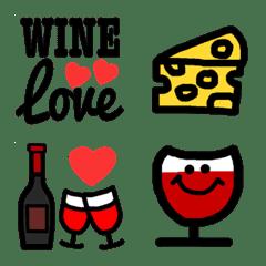 ワイン好きに捧げる乾杯★絵文字