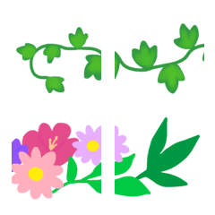 つなげておしゃれな植物や花フレーム♥️