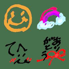 コメント顔文字絵文字~サインペン~