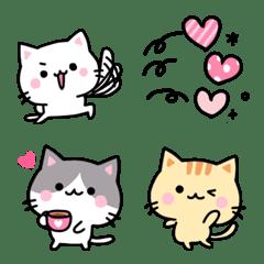 色々ネコたちの絵文字