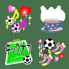 サッカー女子のための絵文字3 ~シンプル版