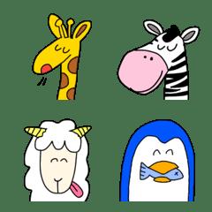 愉快な動物絵文字2 シンプルかわいい