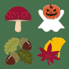 秋満載 紅葉木の実・秋の味覚・ハロウィン