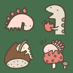 恐竜のいる毎日~秋絵文字