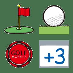 ゴルフ絵文字 87world