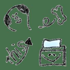 毎回活用モノクロ絵文字2