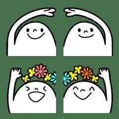 ぴょこっと繋がる顔絵文字6