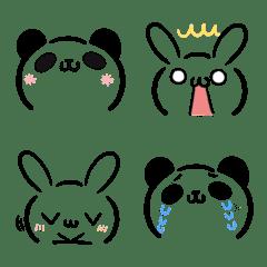 うさぎとパンダの顔文字風・絵文字2