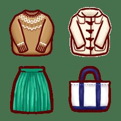 洋服の絵文字(秋、冬)