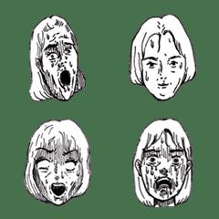 戦慄のリアクション絵文字
