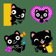黒猫の絵文字1