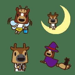 ミニ馬と鹿@絵文字