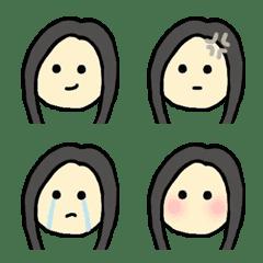 クールビューティガール 絵文字