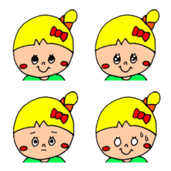 お団子女子♡カラフルポップちゃん/絵文字2