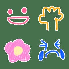 子供が描いたようなクレヨン絵文字(2)