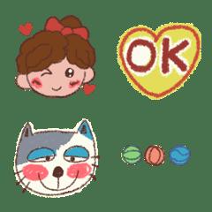 cute girl cat Emoji 201910