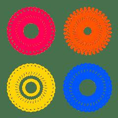 色とりどり万華鏡アート★円形の飾り絵文字