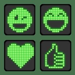 緑のCRTのレトロなドット絵文字