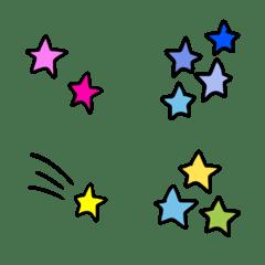 カラフルな星の絵文字