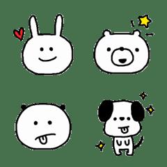シンプルでかわいい動物絵文字