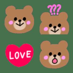 可愛い☆くまちゃんの絵文字