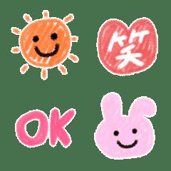 子供が描いたようなクレヨン絵文字(3)