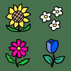 ポップなお花の絵文字