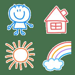 毎日使える海外風カラフル絵文字(1)