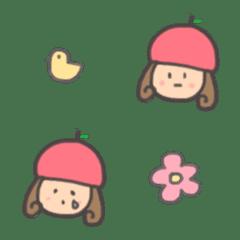 かわいい!りんごちゃん 絵文字