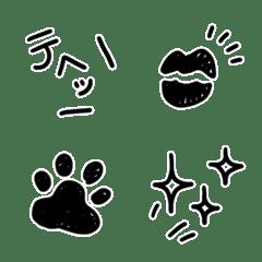 画像加工にオススメ♥️シンプル白黒絵文字