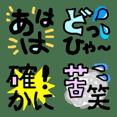 語尾や文頭に使える言葉の絵文字☆2